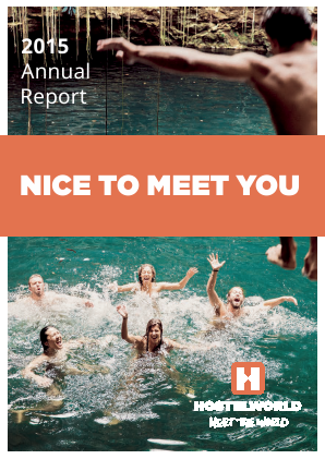 Hostelworld Group annual report 2015