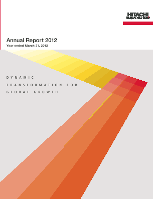 Hitachi annual report 2012