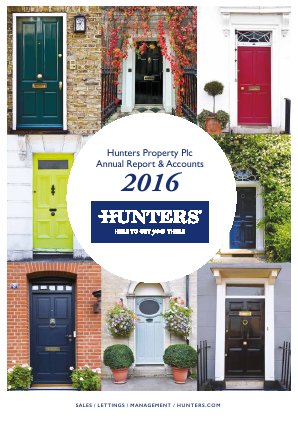 Hunters Property Plc annual report 2016