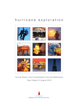 Hurricane Energy Plc annual report 2011