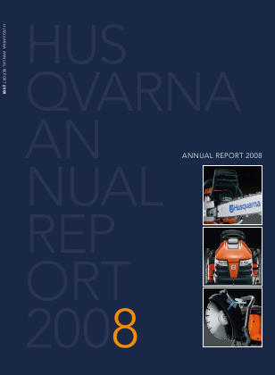 Husqvarna annual report 2008