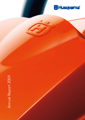 Husqvarna annual report 2009