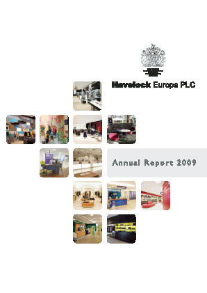 Havelock Europa Plc annual report 2009