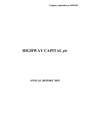 Highway Capital Plc annual report 2015
