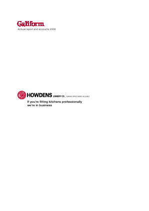 Howden Joinery Group Plc annual report 2008