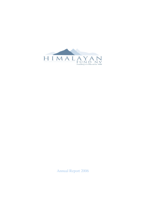 Himalayan Fund NV annual report 2006