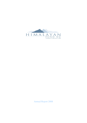 Himalayan Fund NV annual report 2008