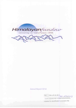 Himalayan Fund NV annual report 2016