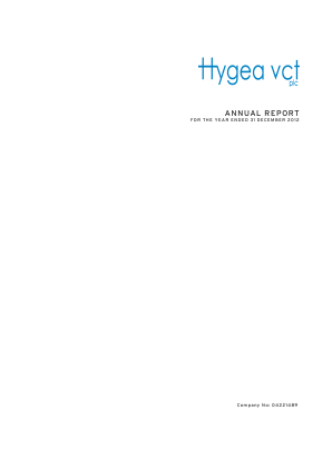 Hygea VCT annual report 2012