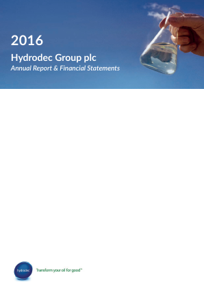 Hydrodec Group annual report 2016