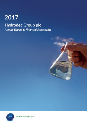 Hydrodec Group annual report 2017