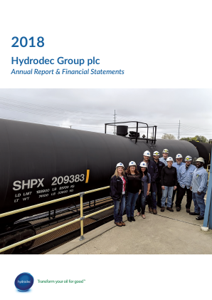 Hydrodec Group annual report 2018