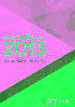Ibex Global Solutions Plc annual report 2013
