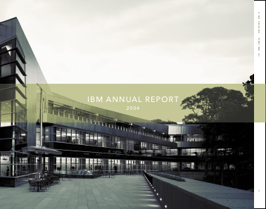 IBM annual report 2004