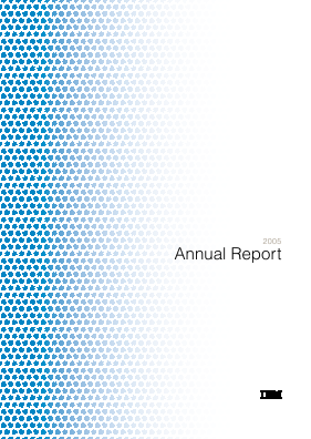 IBM (International Bus Mach Corp) annual report 2005
