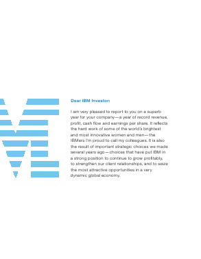 IBM annual report 2007