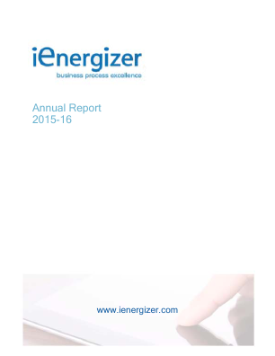 Ienergizer Ltd annual report 2016