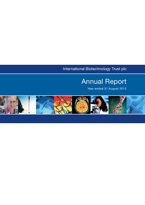 International Biotechnology Trust annual report 2015