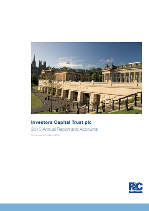 F&C UK High Income Trust plc (previously Investors Capital Trust Plc) annual report 2015