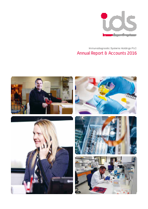 Immunodiagnostic Systems Holdings annual report 2016