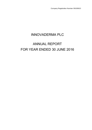 Innovaderma annual report 2016