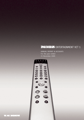 Ingenious Entertainment VCT 1 Plc annual report 2009