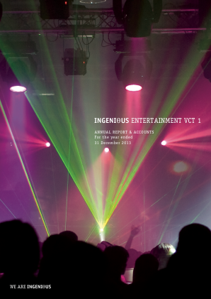 Ingenious Entertainment VCT 1 Plc annual report 2013