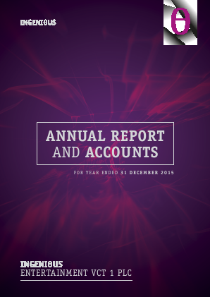 Ingenious Entertainment VCT 1 Plc annual report 2015