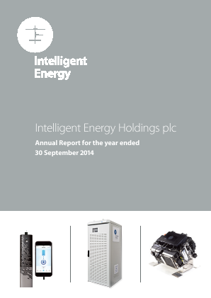 Intelligent Energy Holdings Plc annual report 2014
