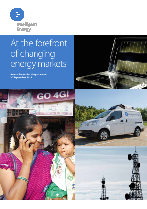 Intelligent Energy Holdings Plc annual report 2015