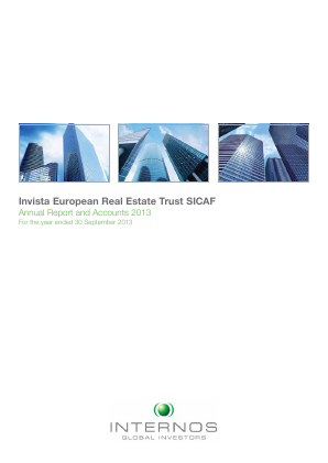 Invista European Real Estate Trust annual report 2013