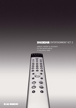 Ingenious Entertainment VCT 2 Plc annual report 2008