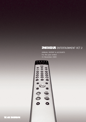 Ingenious Entertainment VCT 2 Plc annual report 2009