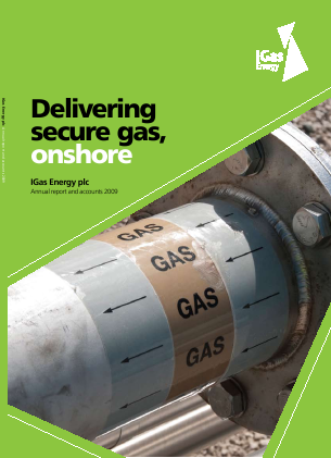 Igas Energy Plc annual report 2009