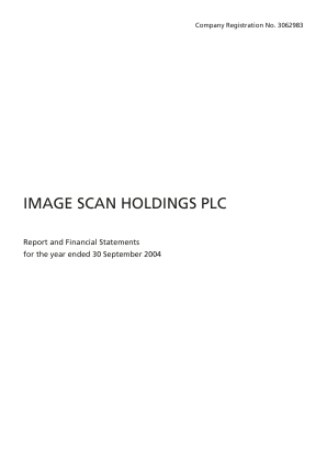 Image Scan Holdings annual report 2004