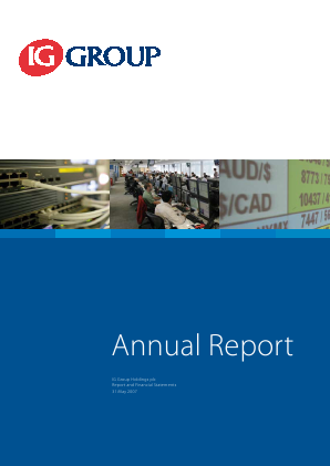 IG Group Holdings annual report 2007