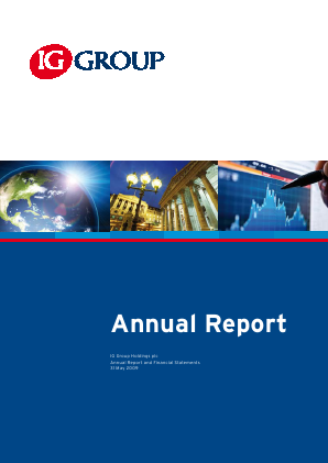 IG Group Holdings annual report 2009
