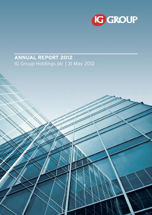 IG Group Holdings annual report 2012