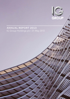 IG Group Holdings annual report 2013