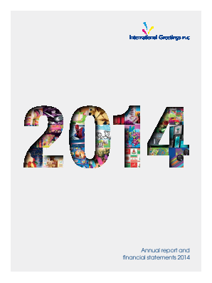 IG Design Group (Formally International Greetings) annual report 2014