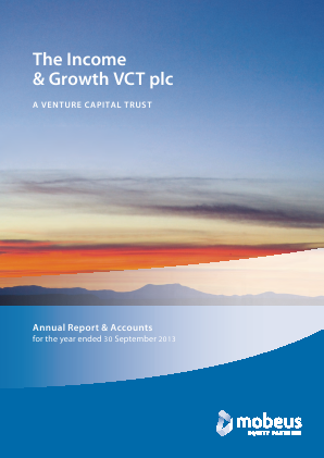 Income & Growth VCT Plc(The) annual report 2013