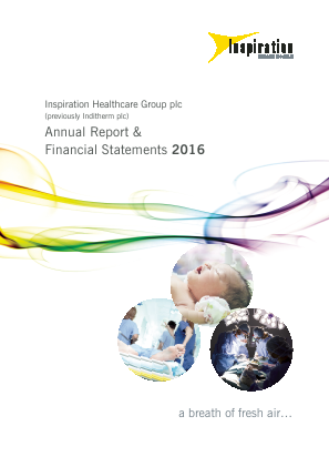 Inspiration Healthcare Group Plc annual report 2016