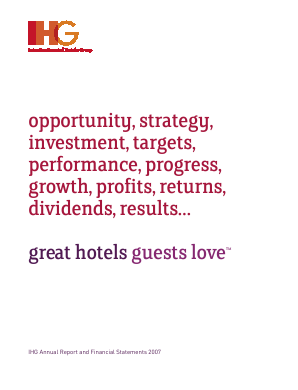Intercontinental Hotels Group annual report 2007