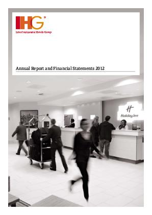 Intercontinental Hotels Group annual report 2012