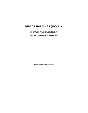 Impact Holdings(UK) annual report 2008