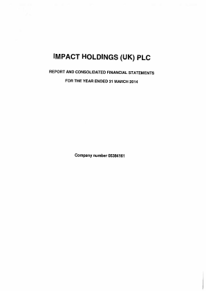 Impact Holdings(UK) annual report 2014