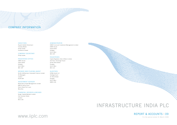 Infrastructure India Plc annual report 2009