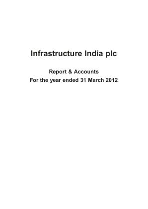 Infrastructure India Plc annual report 2012