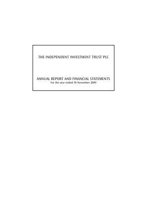 Independent Investment Trust(The) annual report 2009