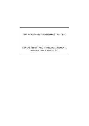 Independent Investment Trust(The) annual report 2013